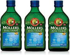 3x Möllers Omega 3 Tutti Frutti Vitamin D Lebertran hochrein natürlich EPA DHA