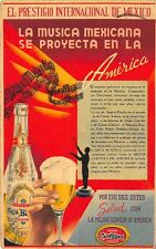 Hotel Waldorf Carta Blanca Mexican Beer Imported to America Advertising Postcard