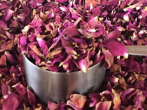 Organic Dried Red Rose Petals, Naturally Dried, Sun Dried, 5 Cups
