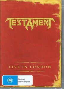 TESTAMENT Live In London - Heavy Metal Music DVD - NEW & SEALED Free Post