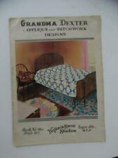 c.1920s Grandma Dexter Applique Patchwork Quilt Pattern Catalog Virginia Snow