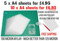 Blank Mylar Stencil Sheets Make Your Own Stencils Plastic Paper Laser Cameo 4
