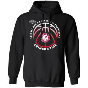 Alabama Crimson Tide 2021 SEC Men's Basketball Conference Hoodie Shirt
