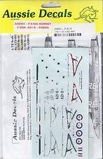 AUSSIE DECALS 1/48 RAAF F/A18A HORNET 3 SQN A21-8 COBRA DECALS AD48001