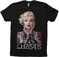 Marilyn Monroe Tattoo Graphic American Apparel 2001 Chrysalis Tee T-Shirt