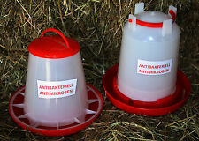 1,5 Ltr Stülptränke & 1,5 kg Futterautomat Futter Tränke Geflügel Hühner Küken