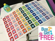 PP002 -- Washing Machine Life Planner Stickers for Erin Condren (66 pcs)