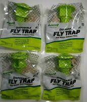 4 Pack Rescue Disposable Fly Trap - Brand New - non-Toxic/new package design