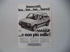 advertising Pubblicità 1980 INNOCENTI MINI 1000