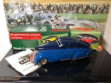 Schuco Germany  Blue WENDE-LIMOUSINE 1010 Wind-Up Tin Toy Car NEW (CR002)