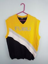 FUBU Tennis Vintage Rétro Sans Manches Athlétique Sport Gilet Body Warmer Pull UK XXL