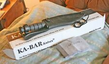 A NIB DISCONTINUED & VERY RARE-KA-BAR 1246 CAMP KNIFE FACTORY SET