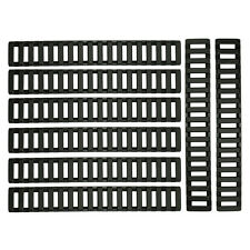 8 PCS Heat Resistant Rifle Handguard Weaver Picatinny Ladder Rail Covers - Black