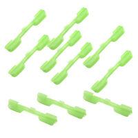 10Pcs Fluorescent Glow Stick Clip Rod Pole Tip Clips Fishing Bite Indicator