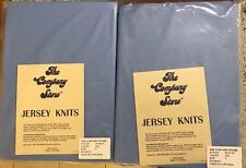 The Company Store 2 New 100% Cotton Light Blue Flat & Fitted Sheets Twin Size