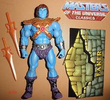 FAKER blue HE-MAN figure MOTU CLASSICS Masters of th Universe Skeletor Sword toy