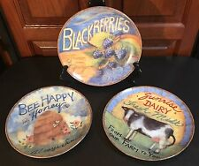 "THREE (3) Cracker Barrel Country Store ""Farmer's Market"" Plates by Susan Winget"