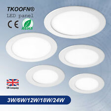 LED Panel Ceiling Down Lights Kitchen Bathroom Living Warm/White Super Bright+CE