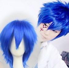 Jellal Fernandes Short Fashion Cosplay Blue Full Wig cosplay wig Free Shipping