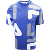 FILA Men's Blue Grey White Letters S/S T-Shirt (S02B)