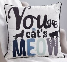 """20"""" Pet Lovers' Velveteen Pillow You Are The Cat's Meow NEW"""