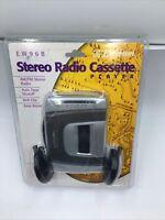 Emerson EW96B AM FM Stereo Radio Cassette Player With Headphones