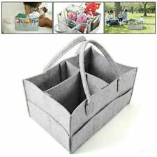 Portable Baby Diaper Organizer Caddy Felt Changing Storage Carrier Bag Acc New