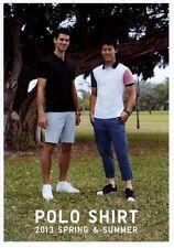 Uniqlo 2013 Polo Shirt catalog Kei Nishikori Novak Djokovic Adam Scott Japan