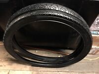 BLACK Bicycle Tires  MOTORCYCLE tread 26 x 2.125 FIT SCHWINN COLUMBIA OTHERS