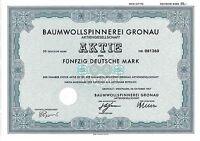 Baumwollspinnerei Gronau Textil DM Aktie 1987 Epe Westfalen BSG NRW Münsterland