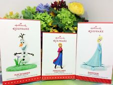 Hallmark Disney Frozen Elsa Anna and Olaf ornaments