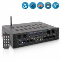 Pyle PTA44BT 4-Ch. Bluetooth Amplifier Stereo Receiver System, with FM Radio