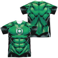 Authentic DC Comics Green Lantern Uniform Costume Allover Front Back T-shirt top