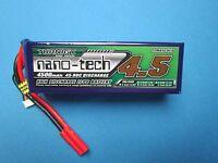 TURNIGY NANO-TECH 4500mAh 6S 22.2V 45C 90C LIPO BATTERY T REX 600 X5 E12 HIROBO