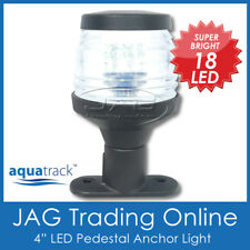 "12V 18-LED 4"" BLACK ANCHOR PEDESTAL WHITE LIGHT-Boat/Stern/Navigation/Masthead"