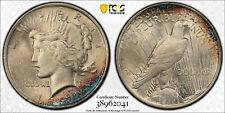 1924 Peace Dollar MS63 Toned PCGS cobalt color