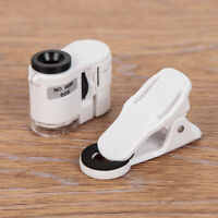 60X Zoom Smart Phone Camera Optical LED UV Light Magnifier Microscope Micro Lens