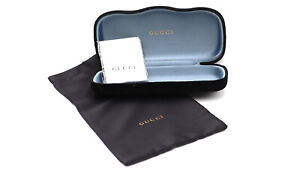Gucci Black Velvet Case for Eye Glasses or Sunglasses + Cleaning Cloth & Pouch