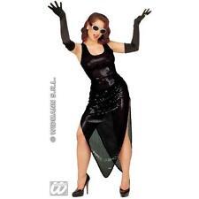 Long Black Cottons Gloves 60cm Ladies Glamour Fancy Dress