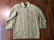 Vintage Eddie Bauer 60s Canvas Chore Work Coat - Unique Metal Buttons - Medium