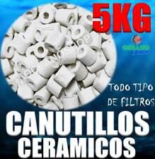 CANUTILLOS 5KG CERAMICOS CERAMICA ACUARIO TODO tipo FILTROS ESPECIAL BACTERIAS