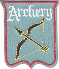"""ARCHERY"" BOW & ARROW-Iron On Embroidered Patch /Sport, Games, Competition"
