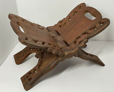 Wooden carved Book stand display folds intricate