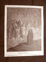 Incisione di Gustave Dorè del 1890 Storie d'umiltà Divina Commedia Purgatorio
