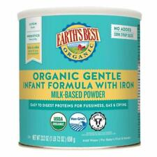 2 Cans Earth's Best Organic Gentle Infant Formula Iron Easy Digest Proteins