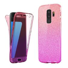 Ultra Slim Clear GEL Skin Case Cover & Tempered Glass for Samsung Galaxy Phone Galaxy A5 Pink
