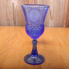 Vintage Blue Fostoria Avon George Washington Goblet