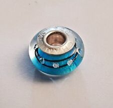 100% Genuine CHAMILIA 'City Lights Blue Steel' Murano charm bead - #2116-0091