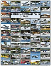 Greenville Seaplane Fly-In Moosehead Lake ME 2014 Aircraft Poster Quality Prints