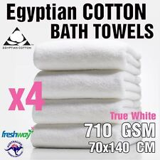 Bath Towel 710GSM Egyptian Cotton Luxury Bath Sheet 140 x70cm | 4 Pack Towel Set